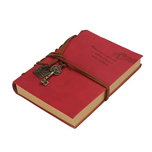 FEITONG@ 160 Page Retro Classic Vintage Leather Bound Blank Pages Journal Diary Notebook