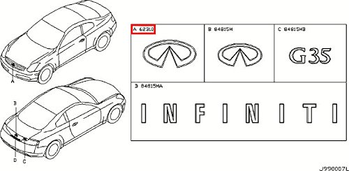 compare price to infiniti front emblem g35