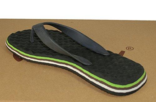 Flojos  Cool mBreeze, Chaussures de piscine et plage pour homme Noir noir