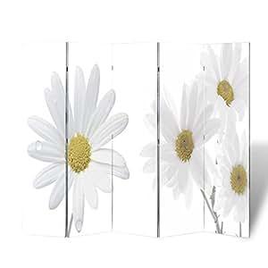 vidaXL Biombo impresión de la flor 200 x 180 cm Decoración Separador Privacidad