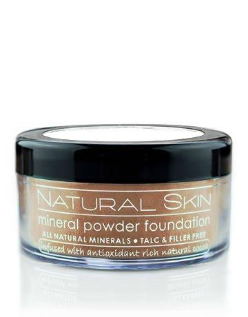 MODE Natural Skin, Mineral Powder Foundation, SHADE #218 (Medium-Dark) Original Antioxidant Rich Cocoa Makeup, Full/Even/Beautiful Coverage, Flawless Complexion, Vegan, Cruelty Free/MADE IN USA .42 oz