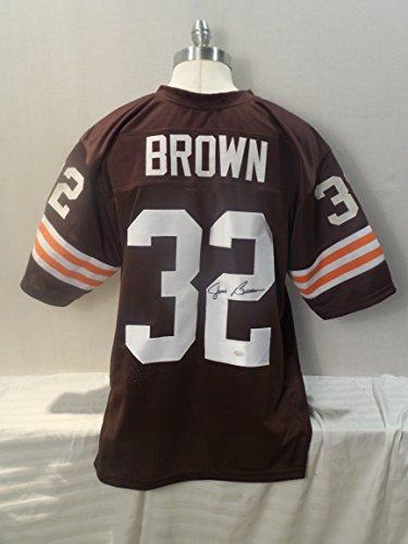 - Jim Brown Signed Cleveland Browns Autographed Brown Novelty Custom Jersey JSA