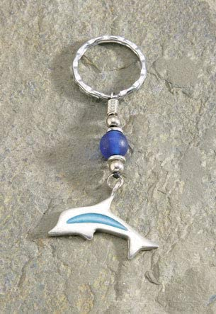 Dolphin Keychain Metal Key Fob