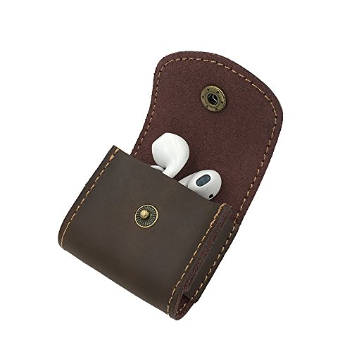 (Baldwin R. Handy Delicate Small Crazy Horse Leather Bag Suit Your Quality Life Work with Earpod Small Headset (Brown))