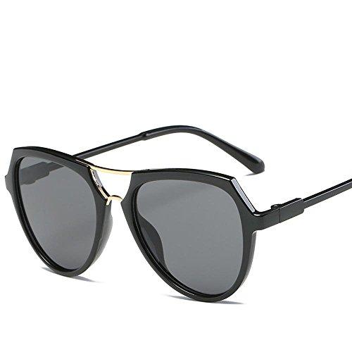 Aoligei Double faisceau lunettes version coréenne fashion lumineux couleur lunettes de soleil réfléchissantes OchG00Zoh