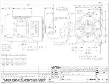 1/2 hp 1725 RPM 56 Frame TEFC (Farm Duty)115/208-230V ... Marathon Electric Motor Schematic Diagram on