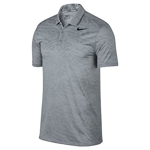 Nike Dry Fit Breathe Jacquard Golf Polo 2017 Wolf Gray/Black XX-Large