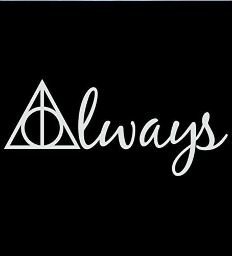 Always Harry Potter Deathly Hallows Decal Vinyl Sticker|Cars Trucks Vans Walls Laptop| WHITE |7.5 x 3.25 - Easy Potter How Harry Make Costume A To