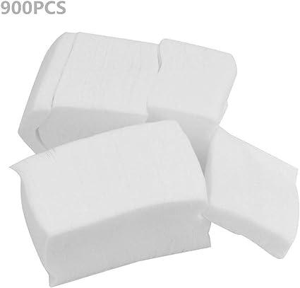 Gleader 900 Piezas Esmalte de uñas de ratón removedor de algodón sin pelusa Arte Toallitas gel de acrílico inclina el removedor Blanco, valor: Estilo 2: Amazon.es: Belleza
