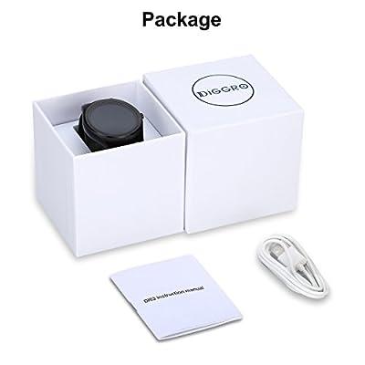 Diggro DI03 Smart Watch IP67 Waterproof MTK2502C Support Bluetooth Speaker Microphone G-Sensor Siri Heart Rate Monitor Sport Pedometer Sleep Monitor Sedentary Reminder for Android & IOS from Diggro