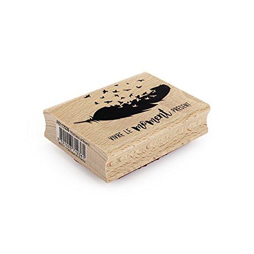 Floril/èges Design fe117035/Momento Presente Timbro Legno 6/x 8/x 2,5/cm