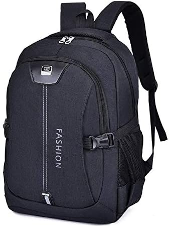 QWKZH Mochilas 15.6 Inch Laptop Men Backpack Children Boys schoolbags Canvas Daypack Kids Bag for Teenage Girls bagpack Mochila Escolar,Black School Bag: Amazon.es: Deportes y aire libre