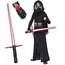 Star Wars Kylo Ren Costume Bundle - Classic Child Medium Costume & Accessories