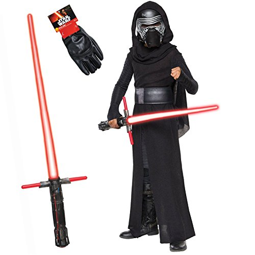 Community Halloween Episodes (Star Wars Kylo Ren Costume Bundle - Classic Child Large Costume and Accessories)