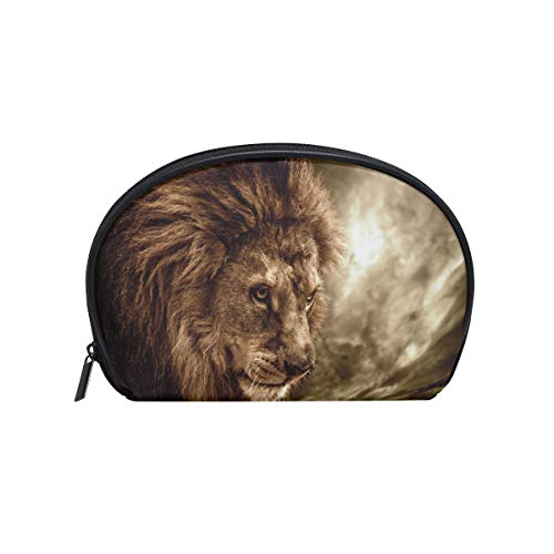 Makeup Bag Cool Fierce Lion Face Cosmetic Pouch Clutch ()