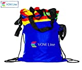 VOMLine Play Parachute for Kids 12 ft 16 Handles