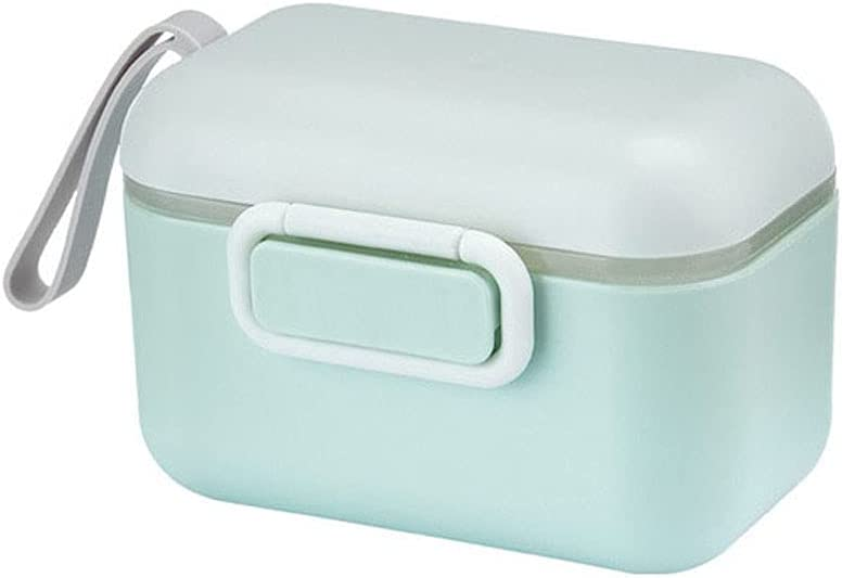 MNBD Portable New Baby Infant Outdoor Milk Powder Box Food Storage Box Toddle Snacks Container Essential Cereal(400ML,Green)
