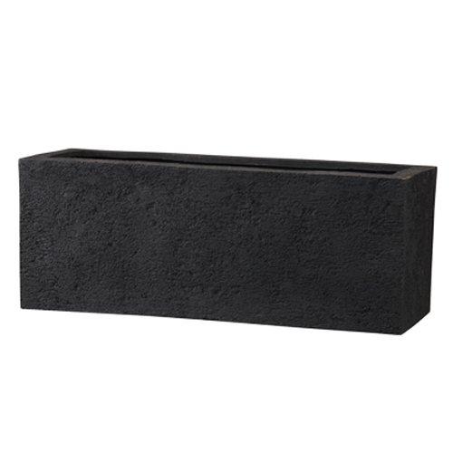 新素材 ポリストーンライト リガンデ プランター 100cm ブラック 樹脂製 大型植木鉢 B01B5CGS5M 100cm|ブラック