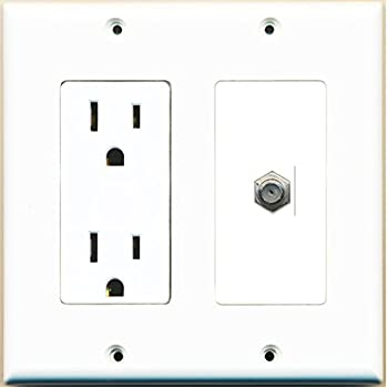 Amazon.com: RiteAV - 15 Amp Power Outlet and 1 Port Coax Cable TV- F ...