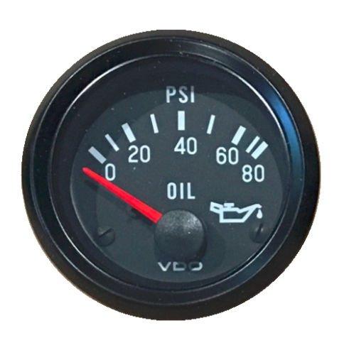 Oil pressure gauge,80 psi,VDO Genuine Cockpit 350-066,2