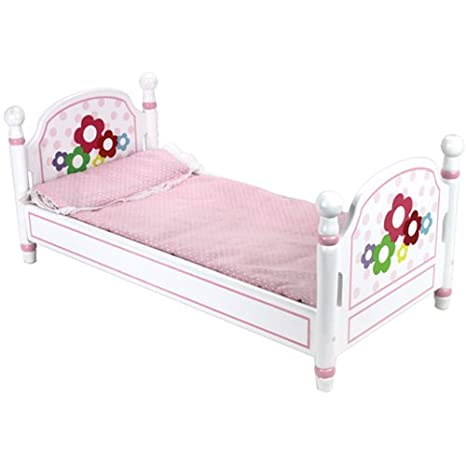 Amazoncom Doll Bed And Doll Bedding Hand Painted Easy To