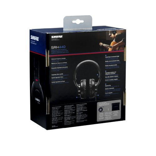 Shure-SRH440-Professional-Studio-Headphones-Black