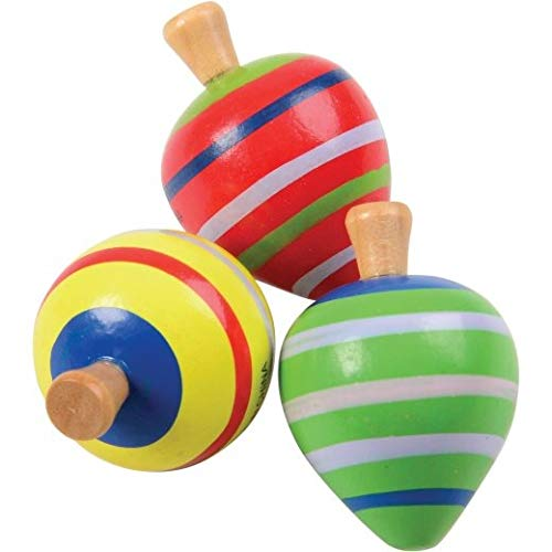 DollarItemDirect Painted Wood Spin Tops, Sold by 14 Packs by DollarItemDirect
