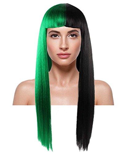 American Singer Long Straight Wig, Green/Black Adult HW-1082 ()