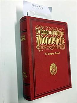 VENHAGEN & KLASINGS MONATSHEFTE. 40. JAHRGANG 19251926, 2