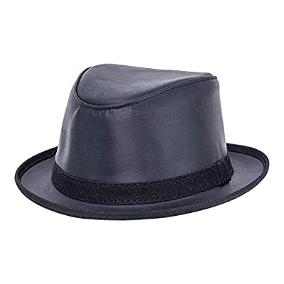 American Hat Makers Soho by Ashbury Hats Pork Pie Leather Fedora