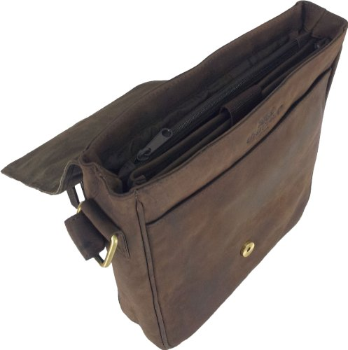 Unicorn Messager Ebook 4g Cuir Sac En Ipad Brun Réel Bag Ou Tablets Messenger 4r1Zq4