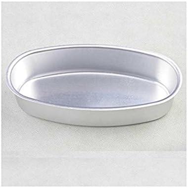 Teanfa Aluminum Alloy Oval Cheese Cake Pan Cheesecake Pudding Mold Toast Bakeware Baking Cake Mould