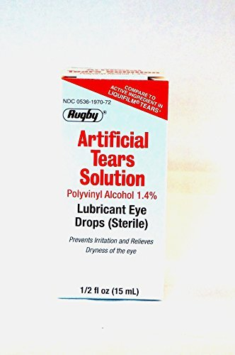 RUGBY Artificial Tears Ophthalmic Solution, 15mL, Pack of 3