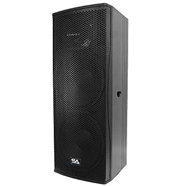 Seismic Audio Magma-215 Premium Dual 15 Full Range/Bi-Amp 2-Way Loudspeaker Cabinet 1000-Watts RMS