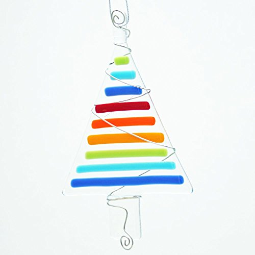 Glassworks Northwest - Rainbow Tree - Fused Glass Ornament