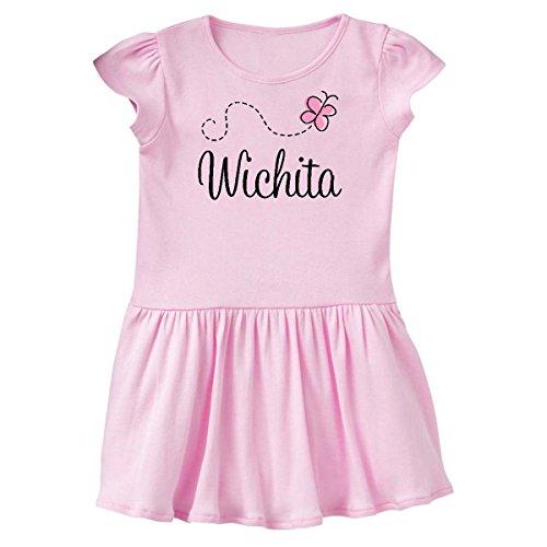 inktastic Cute Wichita Butterfly Toddler Dress 4T Ballerina Pink - In Shops Dress Wichita