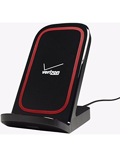 Verizon Qi Wireless Charging Stand, Desktop Charger for Qi Enabled Smartphones and Tablets - Retail Packaging - (Verizon Wireless Phone Chargers)