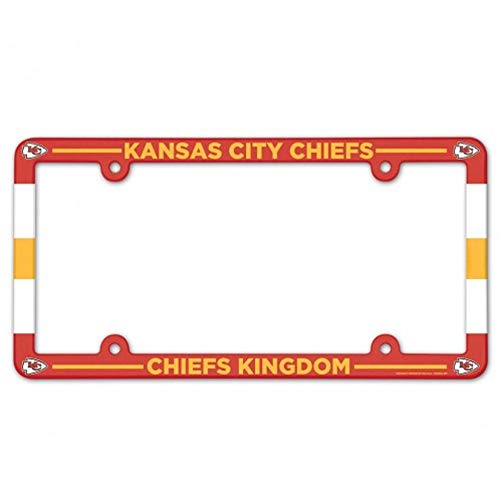 WinCraft NFL Kansas City Chiefs Full Color License Plate Frame, Team Color, One Size