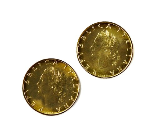 Quality Handcrafts Guaranteed Italy Coin Cufflinks by Quality Handcrafts Guaranteed