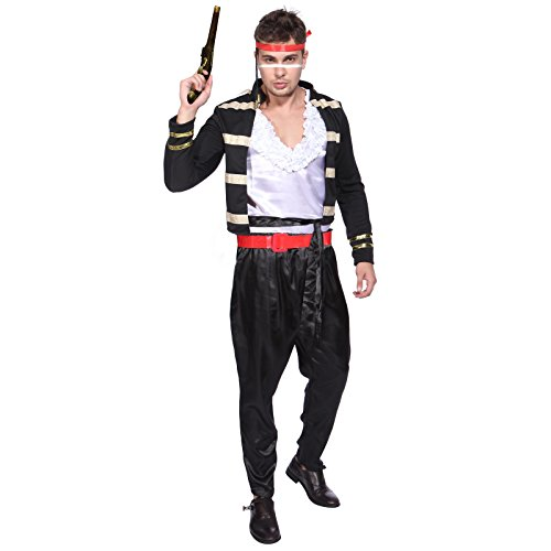 Adam Ant Costume (1980s Adam Ant Mens Prince Charming Fancy Dress Costume)