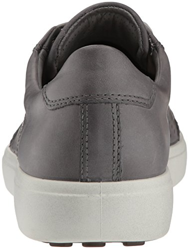 Ecco Hombres Soft 7 Fashion Sneaker Titanium Retro Perforado