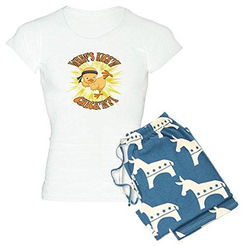 - Truly Teague Women's Light Pajamas Kick'n Chick'n Martial Arts Baby Chick - Democrat, Medium