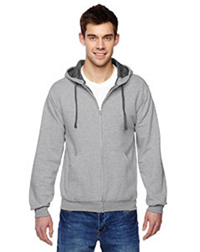 Fruit of the Loom 7.2 oz. SofspunTM Full-Zip Hooded Sweatshirt, XL, ATHLETIC HEATHER (Fruit Of Loom Hoodie)