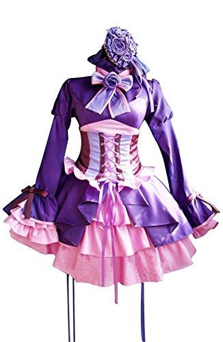 Katekyo Hitman Reborn Cosplay Costumes (Mtxc Women's Katekyo Hitman Reborn Cosplay Costume Chrome Dokuro Dress Size X-Large Purple)