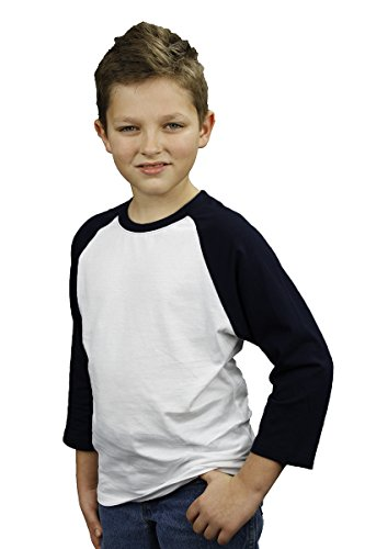Monag Unisex Toddler 3/4 Sleeve Raglan Tee 2T White/Black