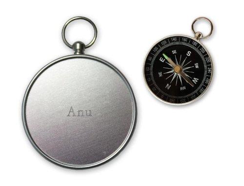 Pequeña brújula con grabado nombre de Anu (nombre de pila/apellido/apodo) SHOPZEUS