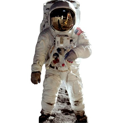 HistoricalCutouts H69301 Astronaut Cardboard Cutout Standee
