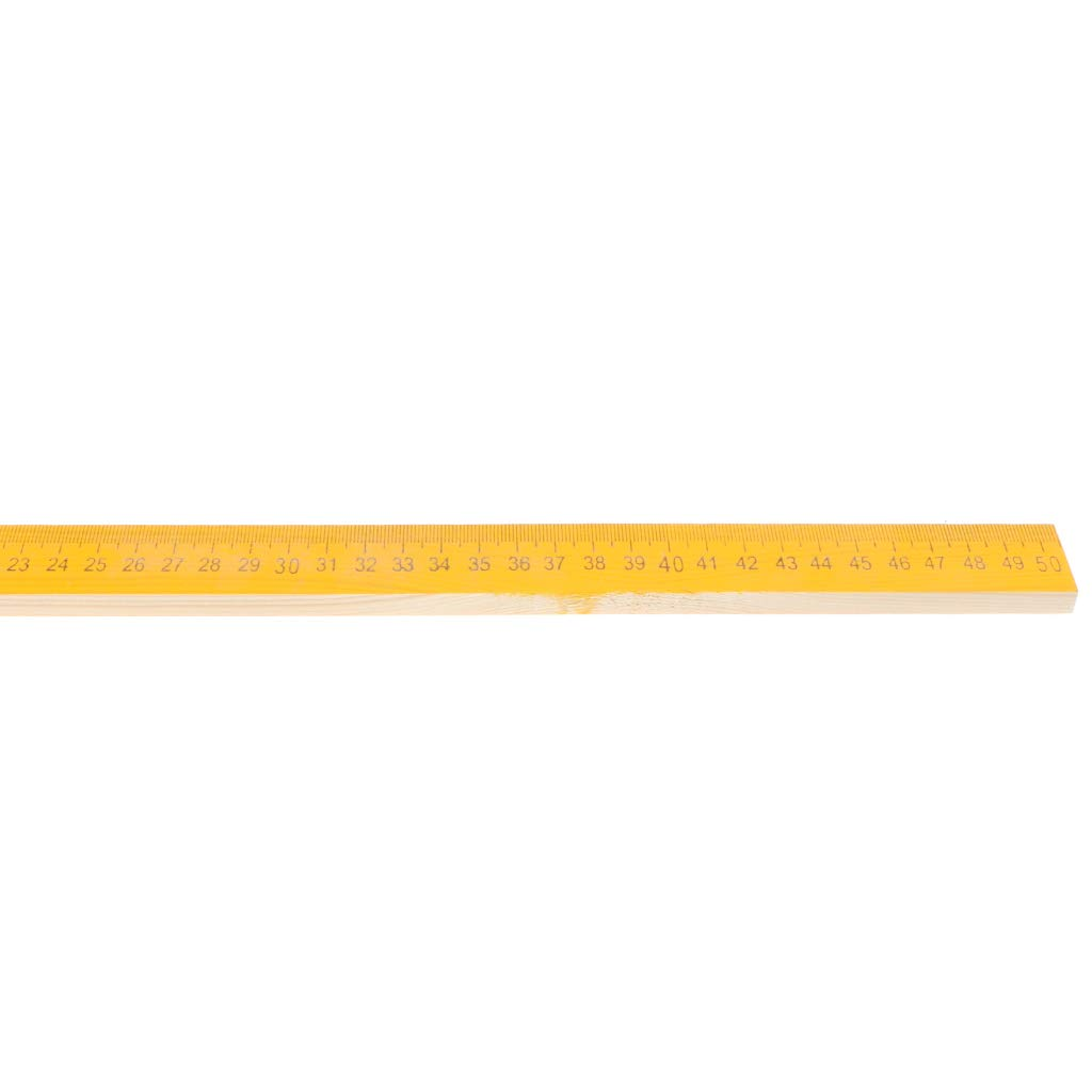 20inch Wooden Metric Ruler Measuring Ruler Teacher Student Drawing Math Tools School Stationery D DOLITY 50cm