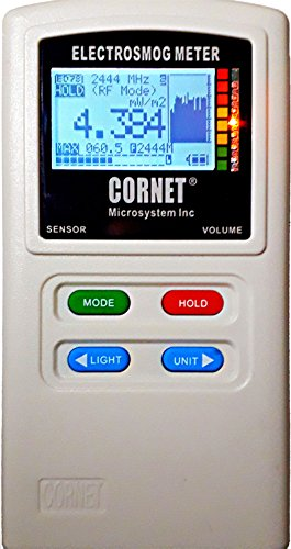 EMRSS Cornet ED78S Plus Dual Mode Meter latest version of the ED78S RF/LF Electrosmog Field Strength Power Meter with Built in LF Gauss Meter Function and Sound Signature and Datalogger