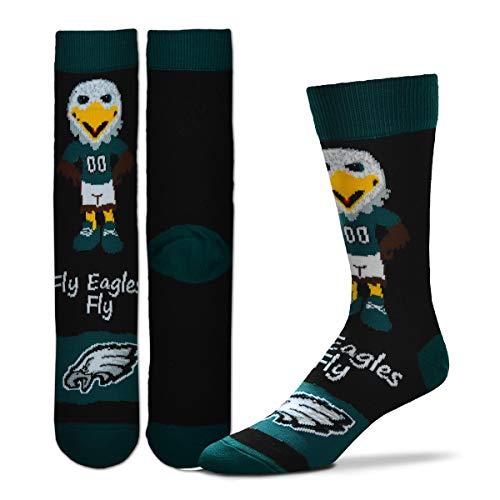 (For Bare Feet - Official NFL Men's Flag Promo Crew Socks (Philadelphia Eagles, Large (10-13)))